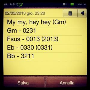Hey Hey, My My